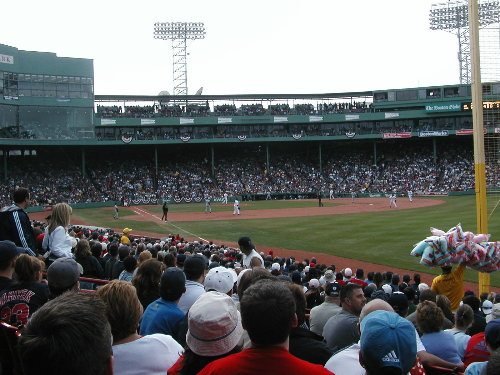 View from Fenway Park Section 93, Row MM