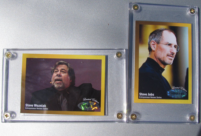 Wozniak and Jobs trading cards
