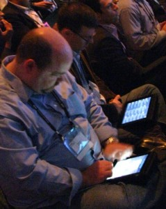 iPad users at Web 2.0 Summit