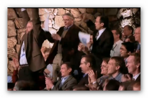 IBM engineers celebrate Watson's victory (from a YouTube video)