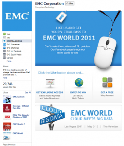 EMC page on Facebook
