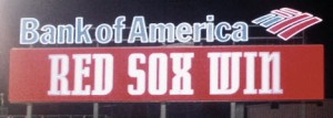 Red Sox Win display on Fenway Park scoreboard