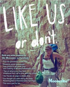 Moosejaw Mountaineering on Facebook