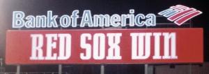 Red Sox Win display on Fenway Park scoreboard